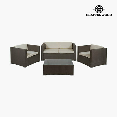 Conjunto de Sofá y Mesa (4 pcs) by Craftenwood