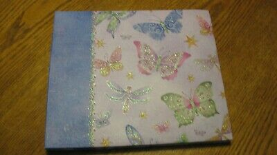 8.5 x 8.5 Glitter Butterfly Scrapbook Album Preowned