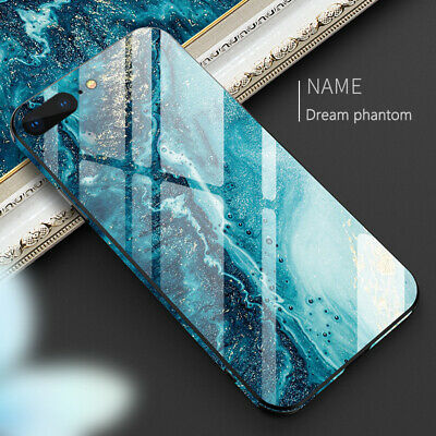 Luxury Marble Tempered Glass Case Cover For Apple iPhone 8 Plus 7 Plus 6 6s Plus