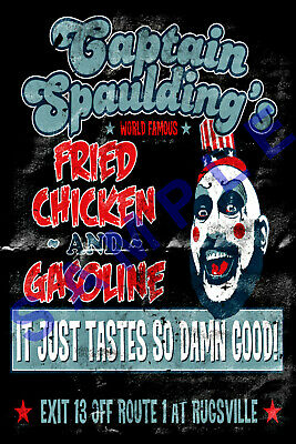 CAPTAIN SPAULDING 12x18 SID HAIG MOVIE POSTER ROB ZOMBIE 3 FROM HELL REJECTS 1