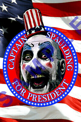 CAPTAIN SPAULDING 12x18 SID HAIG MOVIE POSTER ROB ZOMBIE 3 FROM HELL REJECTS 3