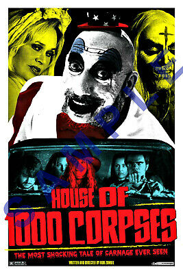CAPTAIN SPAULDING 12x18 SID HAIG MOVIE POSTER ROB ZOMBIE 3 FROM HELL REJECTS 5