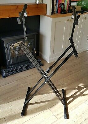 2-Tier X-Frame Keyboard Stand Black by Gear4music