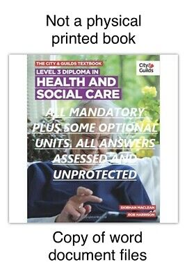 NVQ Diploma LEVEL 3/2 Health and Social Care All Answers UNPROTECTED HELP