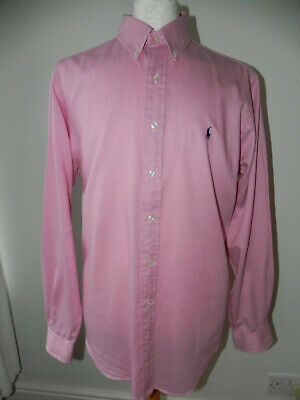 Ralph Lauren Polo Classic Fit Mens Long Sleeved Shirt Pink 16.5 42 Hardly Worn