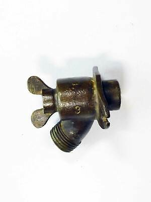 Old Cast Brass Hose Attachment w/ Early Wing Nut Style On-Off  Good Steampunk