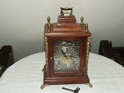 Dutch WARMINK Bracket/Mantel/ Clock Moonphase 2 Bell Chimes Silent option