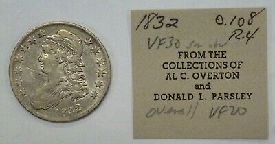 1832 Capped Bust Half Dollar 50 c. O-108 R-3  Al C. Overton Collection