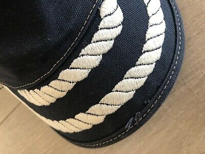Gucci Navy Nautical Hat with White Rope Detail