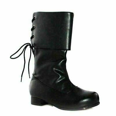 Pirate Black Adult Ankle Boots 1 Inch Heel