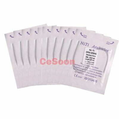 Dental NITI Alloy Open Coil Spring Orthodontic Arch Wire 0.012*180mm Compression