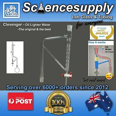 Clevenger Apparatus Oil lighter than Water 24/29 chemistry glassware separation