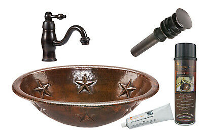 Premier Copper Products - BSP3_LO19RSTDB Bathroom Sink, Faucet and Accessories