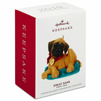 Hallmark 2019 Keepsake Ornament ~ GREAT DANE ~ 29th in Puppy Love Series ~ NEW