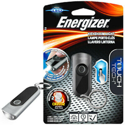 Energizer Touch Tech LED Keychain Key Ring Torch Flashlight Batteries inc