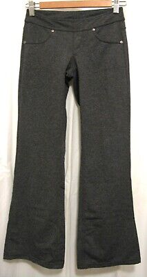 190608 Womens' XXSP ATHLETA 819227 Bettona Grey Bootcut Stretch Knit Pants EUC