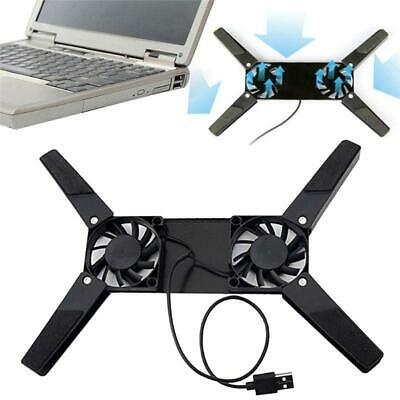 USB Dual Fan Cooler Rotatable Cooling Pad Stand For PC Notebook Macbook Folding