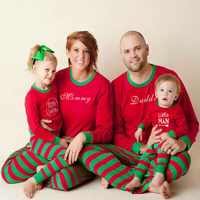 UK Family Matching Adult Kids Christmas Pyjamas Xmas Nightwear Sleepwear PJs Set