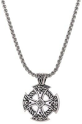 Ancient Celtic Cross Knot Hammer Pendant Irish Necklace Jewelry for Men