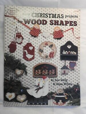 Easy Christmas Projects for Wood Shapes - folk art tole painting pattern 8806