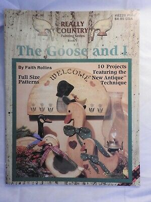 Really Country Series #5 The Goose and I folk art tole painting pattern #8229