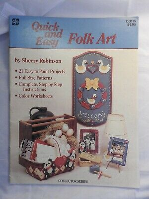 Quick and Easy Folk Art by Sherry Robinson   folk art tole painting pattern DB11