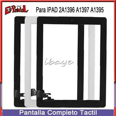 Pantalla Tactil Para iPad 2 Táctil Digitalizador Touch Screen Cristal+BOTÓN