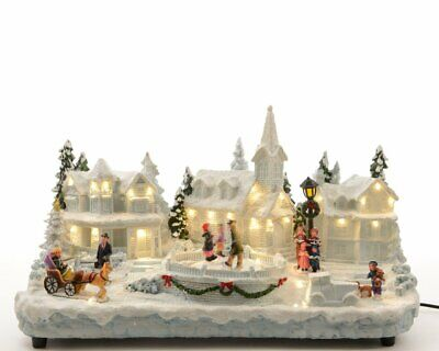 Lumineo LED Xmas Village - White/Warm White Moving Decoration
