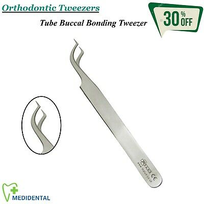 Orthodontic Surgical Tube Buccal & Bonding Fixation Tweezer CE