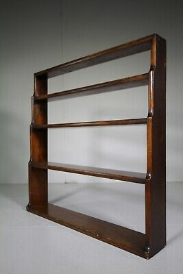Regency Antique Waterfall Open Bookcase in Mahogany