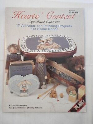 Hearts' Content - Diane Capoccia  folk art  tole painting pattern #8242