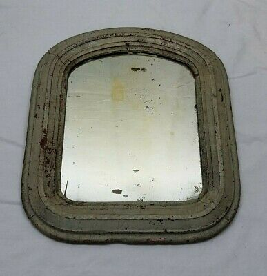Vintage Antique Primitive Wood Wooden Frame Glass Shaving Mirror 13 x 11 Old