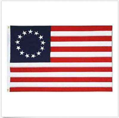 Betsy Ross Flag 3x5 ft Poly Banner 13 Stars 1776 American Colonial USA SELLER
