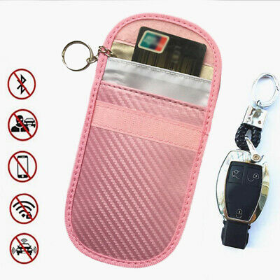 Compact Car Key Cover Shell Carbon Fiber RFID NFC Shielding Pouch Case Signal UK