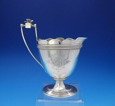Ford and Tupper Sterling Silver Cream Pitcher w/Applied 3-D Bird on Cube (#3658)