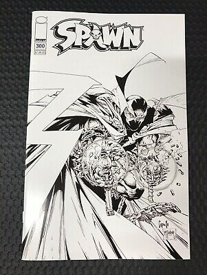 Spawn #300 Cover F GREG CAPULLO & TODD McFARLANE B&W SKETCH VARIANT NM