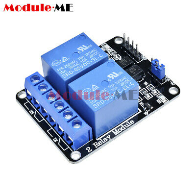 Two 2 Channel Relay Module 5V With optocoupler For PIC AVR DSP ARM Arduino