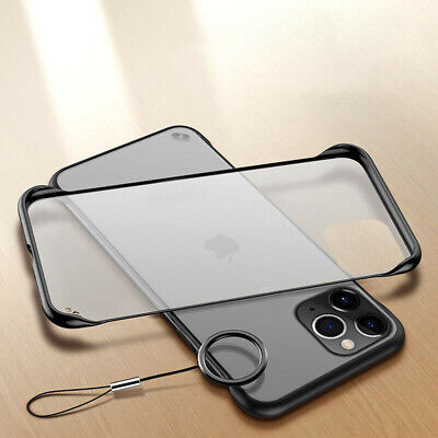 Slim Frameless Case For iPhone 11 Pro Max XS Max Xr X 8 Transparent Matte Cover