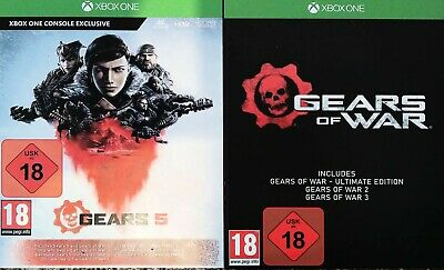 Gears 5, gears of war 4, 3 2 and ultimate edition xbox one games