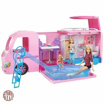 Barbie Playset Dream Camper Adventure Camping With Accessories Kids Fun Play New