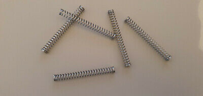 Compression Springs - 0.56mm x 4.80mm x 45.5mm - 302 Stainless Steel - Pack of 5