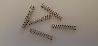 Compression Springs - 0.50mm x 4.50mm x 26.5mm - 302 Stainless Steel - Pack of 5