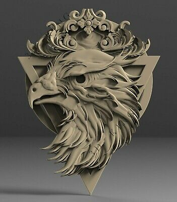 3D STL Model # DECORATIVE EAGLE # for CNC 3D Printer Engraver Carving Aspire