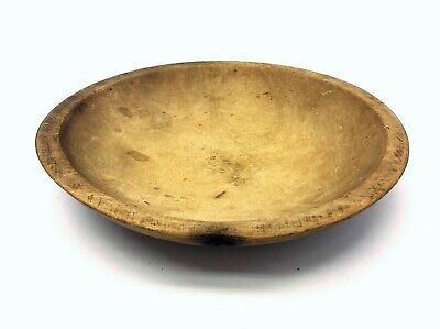 Vintage Used Small Natural Wood Kitchenware Signed Munising Wooden Serving Bowl
