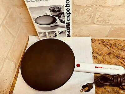 """Maxim  Electric  Crepe Maker 7.5"""" wide , CM-5  , Tested Working"""