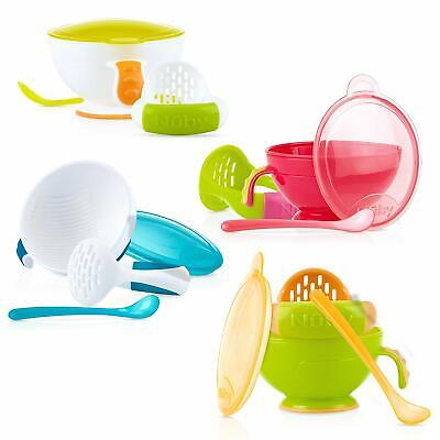 Nuby Mash N' Feed Bowl with Spoon and a Masher,Colors May Vary baby feeding bowl