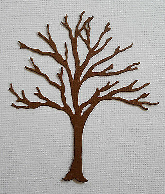 Bare Tree Die Cuts x 8 - made from Paper - Scrapbooking Card Making Topper