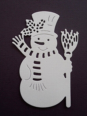 Christmas Snowman Die Cuts x 10 - made from Paper - Scrapbooking Card Topper