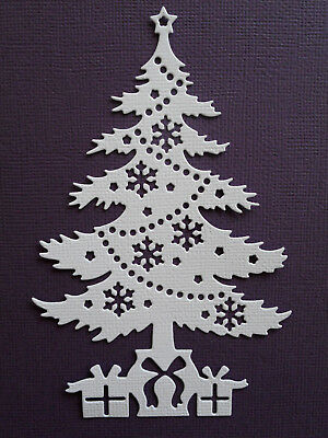Christmas Tree Die Cuts x 8 - made from Paper - Scrapbooking Card Making Topper