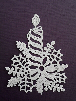 Christmas Candle Die Cuts x 8 - made from Paper - Scrapbooking Card Topper
